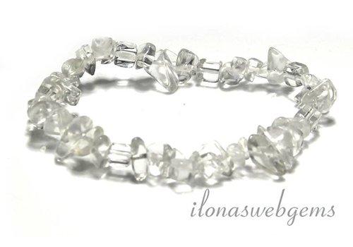 Bergkristal split kralen armband ca. 7.5mm