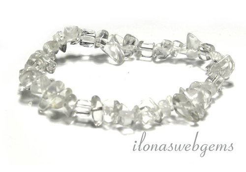 Rhinestone split beaded bracelet approx 7.5mm