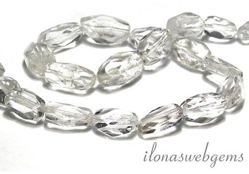 Bergkristal kralen free shape ca. 19x11mm