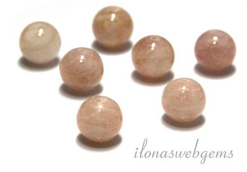 1 piece Beryl bead peach round app. 14mm