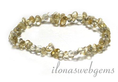 Citrine beads bracelet split approximately 6.5mm