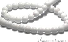 Perlen Weisse Jade rund ca. 8.5mm
