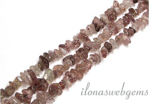 Strawberry Quartz beads split approx 7.5mm