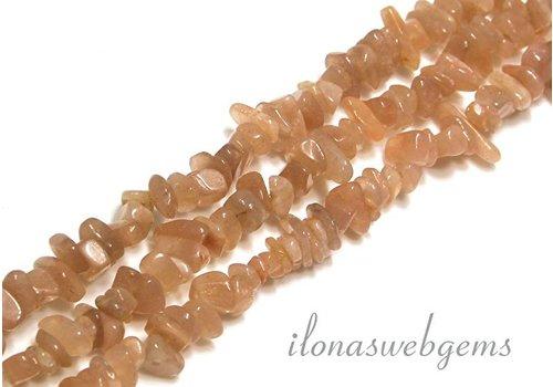Moonstone Beads split