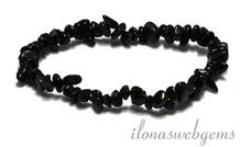 Split Obsidian Perlen Armband um 7mm