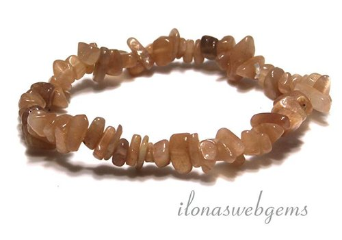 Moonstone split beaded bracelet approx 7mm