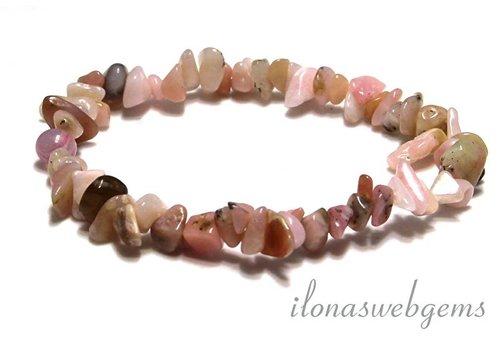 Roze Opaal split kralen armband ca. 7mm