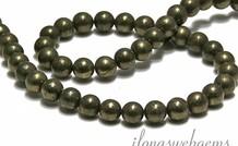 1 Pyrit Perle rund ca. 8.5mm