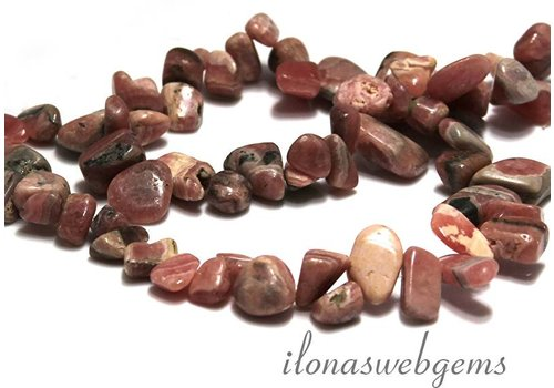 Rhodochrosiet beads app. 10-18x5mm