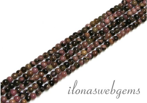 Rhodoniet beads mini app. 2.4mm