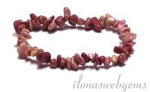 Rhodonite Split Perlen Armband ca. 7,5mm