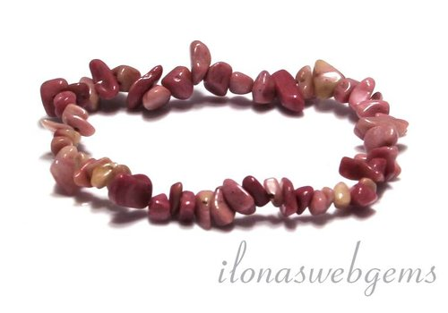 Rhodonite split beaded bracelet approx 7.5mm