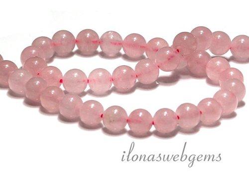 Rose quartz beads around 8.5mm