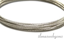1 cm 925/000 Silber Draht bewerkt ca. 0.7mm/21GA