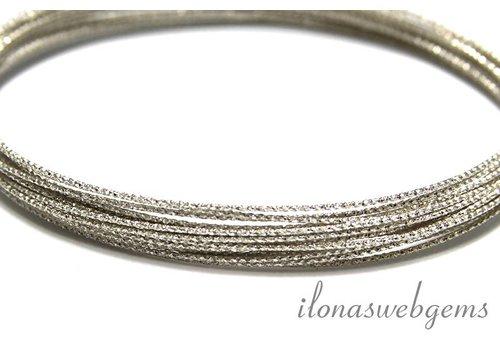 1cm sterling zilveren draad bewerkt ca. 0.7mm / 21GA
