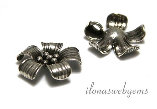 Sterling Silver Hill tibe pendanttje flower app. 20x5.5mm
