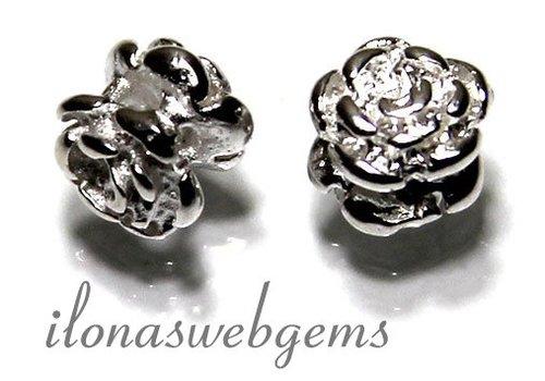 925/000 Silber Zwischenstück Rose ca. 5x5mm