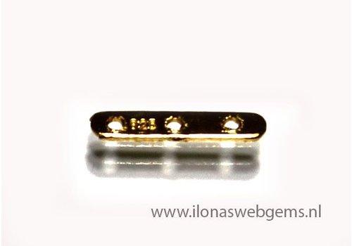 Vermeil Verteiler 3 rij ca. 12x2x0.5mm