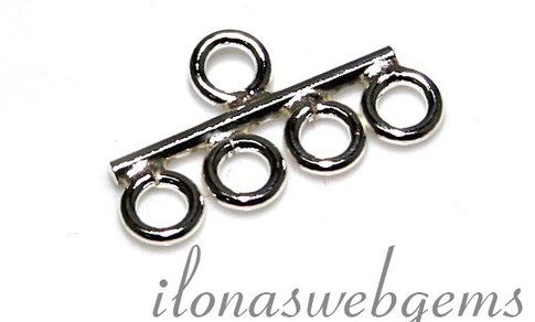 1 925/000 Silber Verteiler 4 rij ca. 16,5x9,5x1mm