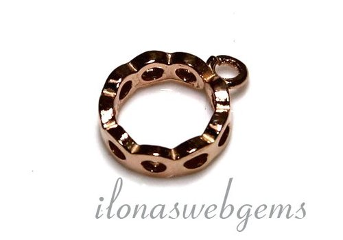 1 Rosé Vermeil spacer met ring ca. 12.5x10x3mm