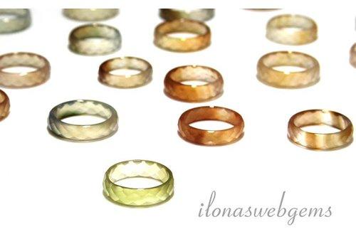 Agate Ring Facette Orange