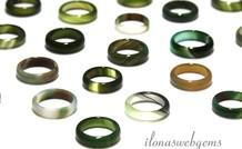 6 stuks Agaat ring mix