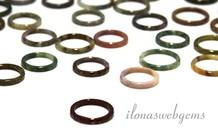 6 stuks Indian Agaat ring mix