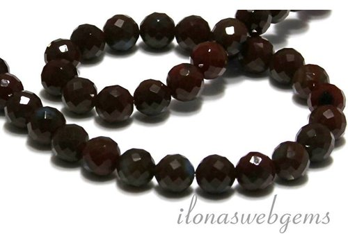 Agate beads facet round app. 10mm