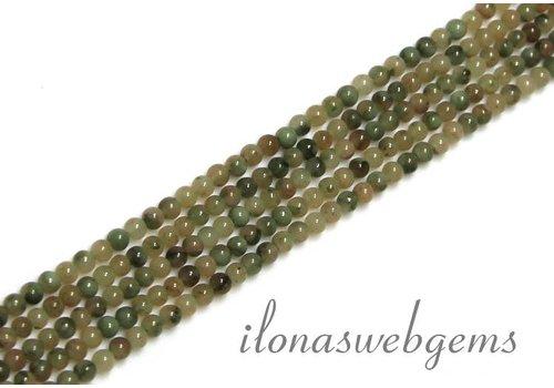 Silver leaf Agate beads mini app. 2.2mm