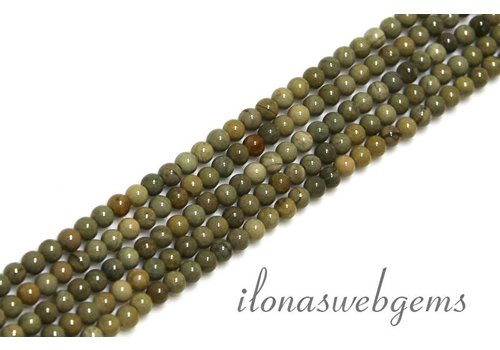 Silver leaf Agate beads mini app. 2.4mm
