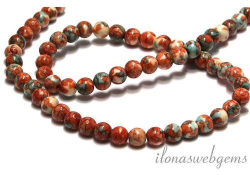 Howlite beads round app. 7mm