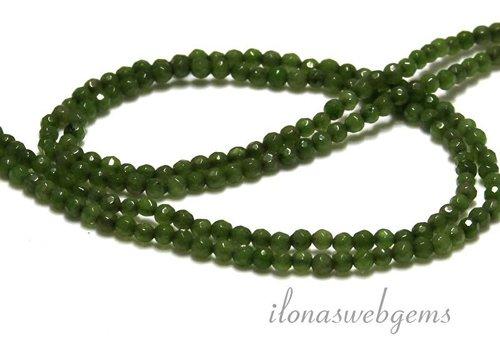 Jade kralen facet rond ca. 3.5mm