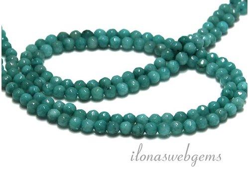 Jade Perlen Facetten rund ca. 4.5mm