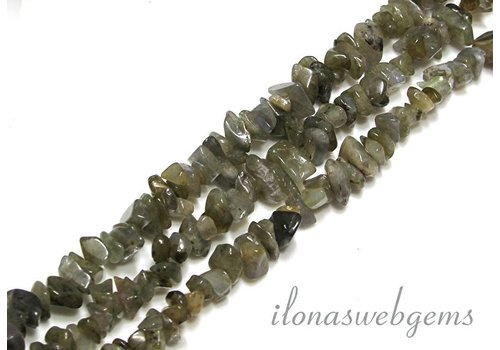 Labradorite beads split about 7.5mm