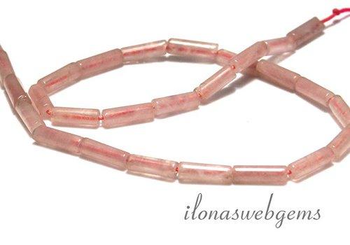 Rose Quartz Beads app. 13x4.5mm