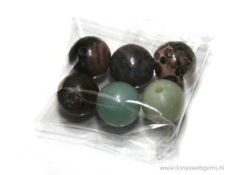 6 stücke  3gats   Perlen mix ca. 10mm