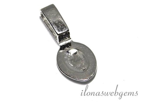 Sterling silver Bail / paste pendant for cabochon approx 15x6mm