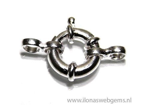 Sterling silver spring ring / buoy clasp approximattly