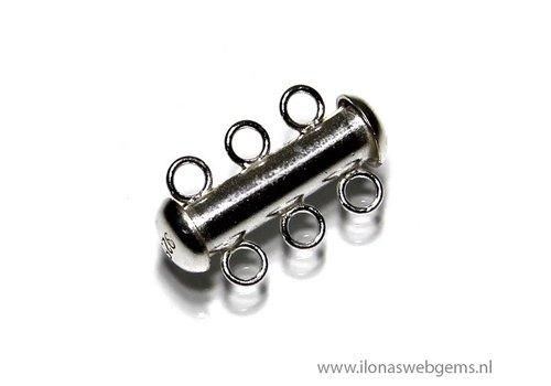 Sterling zilveren slotje 3 rij ca. 18x11mm