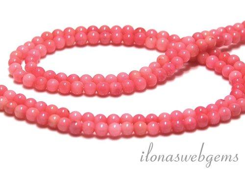 Rosa Korallen Perlen rund 4mm