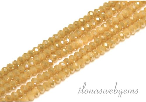 Swarovski style crystal faceted roundel beads app. 3x2mm (HA12)