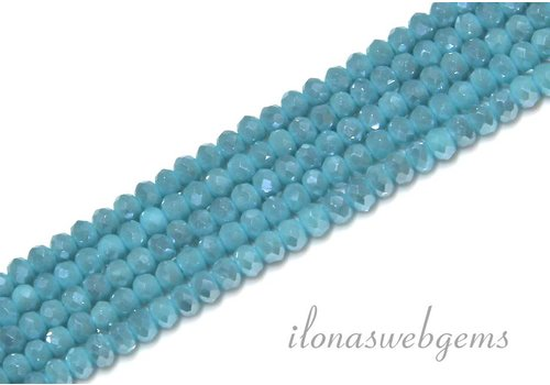 Swarovski style crystal faceted roundel beads app. 3x2mm (HA20)