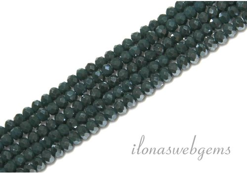 Swarovski style crystal faceted roundel beads app. 3x2mm (Ha24)