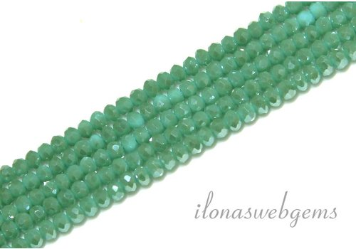 Swarovski style crystal faceted roundel beads app. 3x2mm (Ha26)