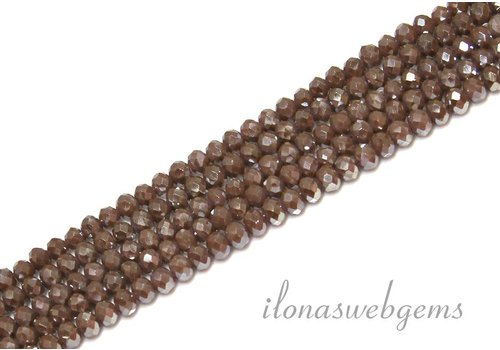 Swarovski style crystal faceted roundel beads approx 4.5x3.5mm (Ha32)