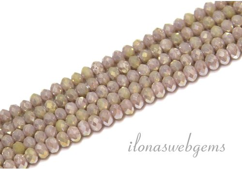 Swarovski style crystal faceted roundel beads approx 4.5x3.5mm (Ha35)