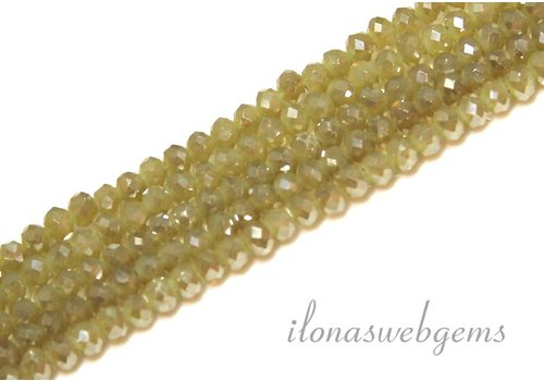 Swarovski style crystal faceted roundel beads approx 4.5x3.5mm (Ha37)