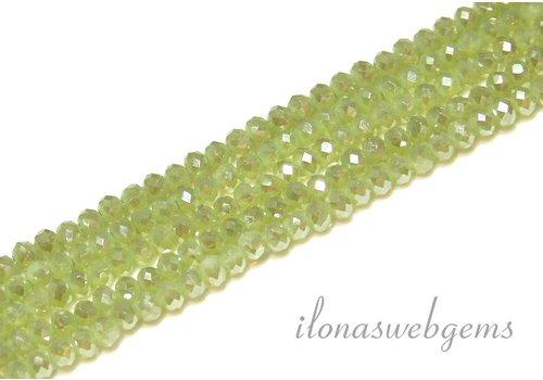 Swarovski Stil Kristall Facettentierte Rondelll Perlen ca. 4.5x3.5mm