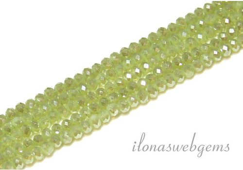 Swarovski style crystal faceted roundel beads approx 4.5x3.5mm (Ha38)
