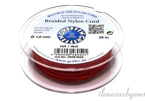 Griffin nylon koord rood